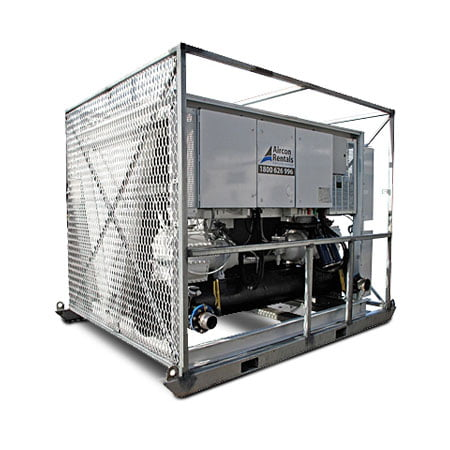 250kw Air Cooled Chiller Air Conditioner Rental Air