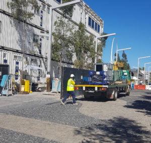 HVAC rental - construction site