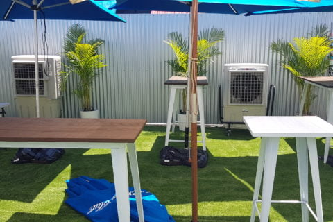 Outdoor cooling with evaporator cooling