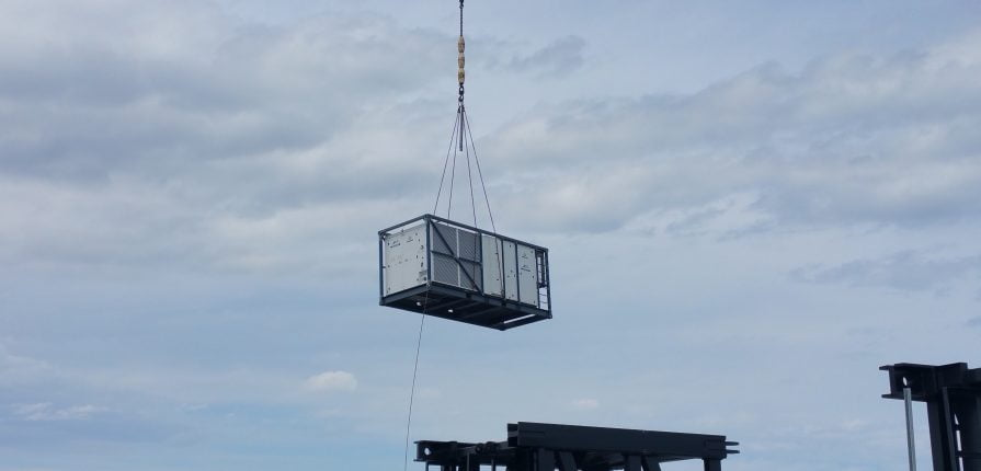 200kw aircon unit craned into position