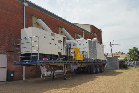 Hire generator and aircon on a trailer