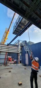 500kw aircon chiller craned into place