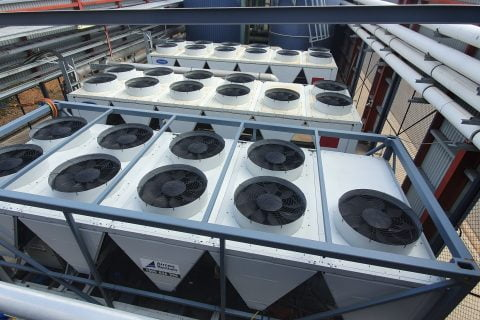 500kw aircon chiller from above