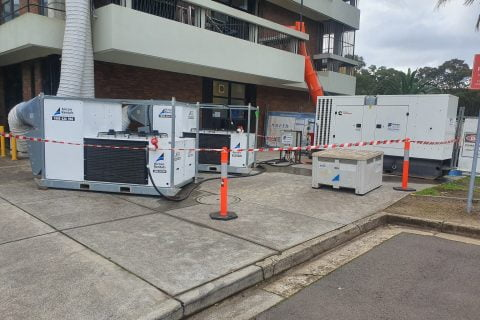Reverse Cycle HVAC rental