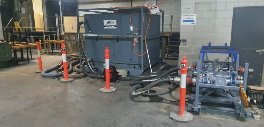 AHU hire used as a dry cooler