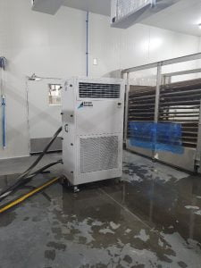25kw fan coil unit on hire connected to 21kw chiller